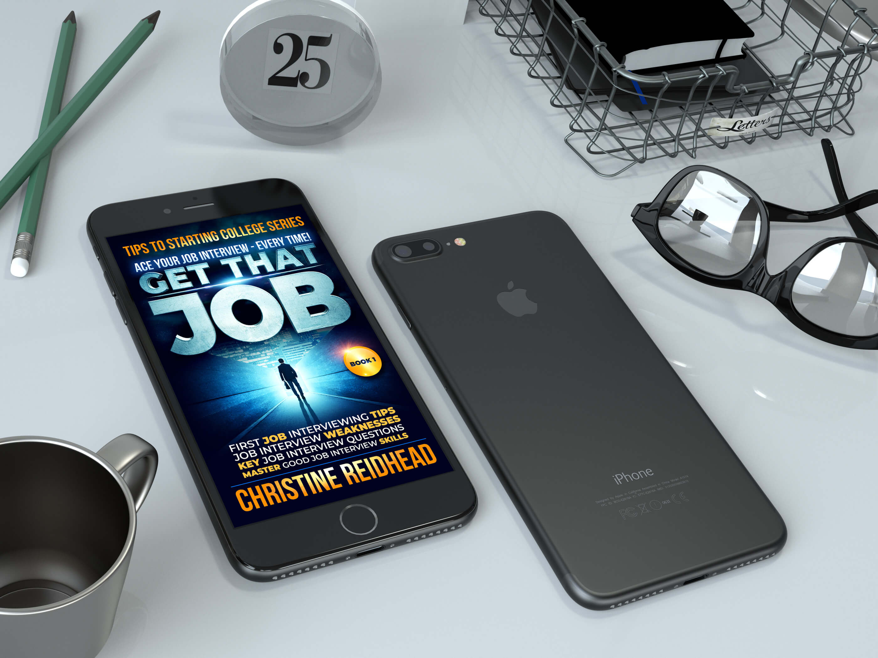 Realistic Black iPhone 7 Plus Mockup - Anthony Boyd